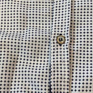 Shirts - Vertical Sport Men's Button Down White &Navy Shirt